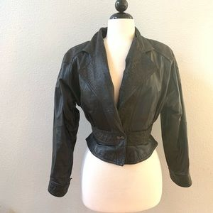 pelle cuir Jackets & Coats - 🆕VINTAGE 80s PELLE CUIR black leather jacket S